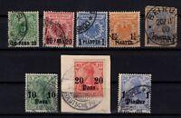 G139635/ GERMAN LEVANT – YEARS 1889 - 1913 USED – CV 115 $
