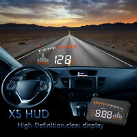 Universal Car GPS HUD OBD2 Head Up Display Speedometer MPH/KM/h Overspeed Alarm