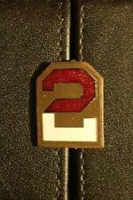 WW2 US 2nd Army DI DUI Crest Pin-Back Original Training Unit Enamel Scarce VG+