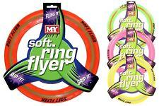 6X Soft Rubber Frisbee Flying Disc Big Pet Dog Exercise Training Fetch Toy