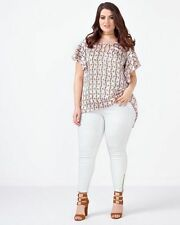 NEW PLUS SIZE SLIMMING PENCIL JEAN WITH ZIPPERS BY MELISSA MCCARTHY SEVEN7 18W