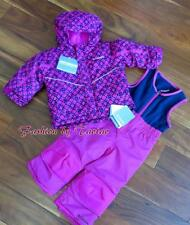 New w Tag Columbia Girls Arctic Trip Bib Pants Set 2T