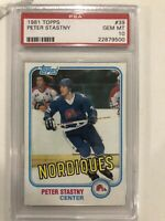 PETER STASTNY 1981 TOPPS #39 NORDIQUES HOF ROOKIE RC PSA 10 Population Only 101