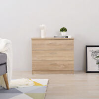 Modern Bedside Table Cabinet Chest of Drawers Nightstand 3 Drawers Bedroom Oak