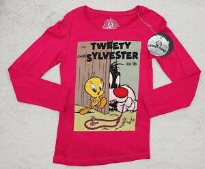 Looney Tunes Tweety & Sylvester Girls Top Printed T-shirt Pink 9-10, 16-18 Years
