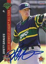 Brett Graves Beloit Snappers 2015 Midwest League All Star Game Signed Card