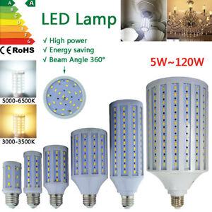 LED Lampe E27 Mais Birne Licht Leuchtmittel Strahler Warmweiß Kaltweiß SMD 220V