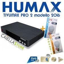 DECODER SATELLITARE DVB-S S2 TIVUSAT HUMAX TIVUMAX PRO 2 HDMI 1080 CON TESSERA