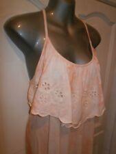 Ladies Peach Tie Dye effect maxi dress size Large - River Island