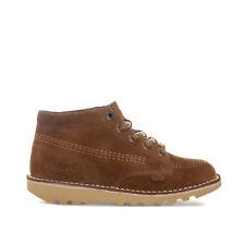 Kickers Kick Hi Core Junior Boys Sand Suede Boots Size UK6 (EU39)