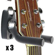 3/Lot Guitar Hangers/Holders/Stands/Ho oks Wall Anchor Mount Display Grak1-Q3