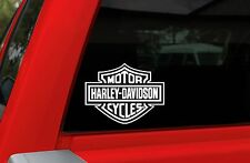 """Harley Davidson Logo Cutz Window Decal - SMALL WHITE - 4"""" x 5.1"""" - SW"""