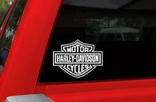 "Harley Davidson Logo Cutz Window Decal - SMALL WHITE - 4"" x 5.1"""