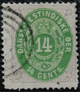 nystamps US Danish West Indies Stamp # 12 Used $1250   L16x1068