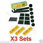 3X Glueless Patch Tyre Lever Kit Stick On Puncture Repair Bike Bicycle Tube 773