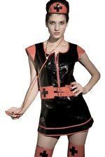 Sexy Women's Gothic Nurse PVC Fancy Dress Costume