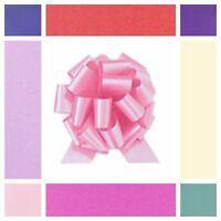 30mm Medium Pull Bows Poly Ribbon Wedding Car Gift Wrap Pew Party Florist Bow