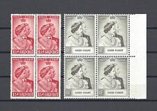 GOLD COAST 1948 SG 147/8 RSW MNH Blocks of 4 Cat £141.20