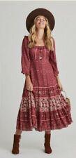 Arnhem Esmee Midi Dress Ruby Size 12  RRP $229 Maxi Spell Boho Gypsy
