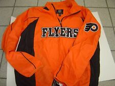 "NEW MENS NHL PRE GAME ""PHILADELPHIA FLYERS 1/2 ZIP PULLOVER WINDBREAKER SIZE XL"