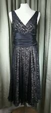 Monsoon Empire Line Cocktail Party Black Dress UK8 EU36 EXCELLENT CONDITION