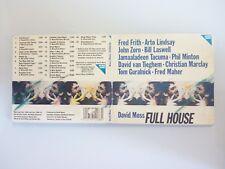 DAVID MOSS - FULL HOUSE - DIGIPACK CD