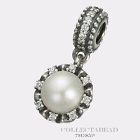 Authentic Pandora Silver Hanging Everlasting Grace Pearl Bead 791385P *SPECIAL*
