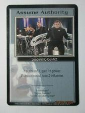 1999 Babylon 5 Ccg - Severed Dreams - Rare Card - Assume Authority