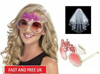 BRIDE TO BE VEIL & GLASSES HEN DO NIGHT PARTY ACCESSORIES BACHELORETTE