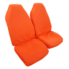 2PCS Throw Over Slip On Orange Car Seat Covers Easy Fit Most Cars Trucks