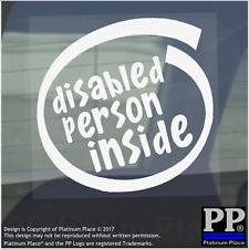 1 x persona disabile all'interno-Finestra, Auto, Furgone, STICKER, SEGNO, veicolo, Adesivo, badge