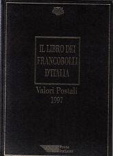 LIBRO UFFICIALE POSTE + FRANCOBOLLI BUCA LETTERE 1997 LIBRI ALBUM COMPLETI RARO
