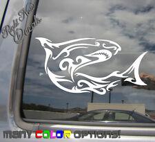 Shark Tribal - Great White - Auto Window High Quality Vinyl Decal Sticker 01068
