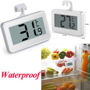 Magnetic LCD Digital Thermometer for Fridge Freezer Cooler Chiller Hanging Hook