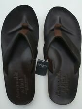NEW Abercrombie & Fitch Leather Flip Flops -  Men's size M Medium  SAVE!!!