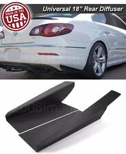"18"" G3 Rear Bumper Lip Downforce Apron Splitter Diffuser Canard For Honda Acura"