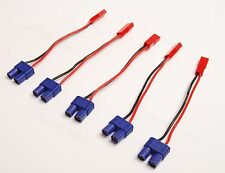 Lot(5) JST Male to EC3 Female Adapter 20awg Wire for RC ESC Power Supply