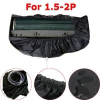 Black Air Conditioner Dust Washing Waterproof Cover Clean Protector For   ♪ +