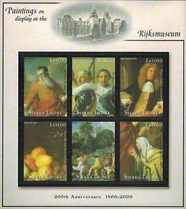 MODERN GEMS - Sierra Leone - Rijksmuseum 200th Anniversary II - Sheet of 6 - MNH