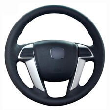 Leather Steering Wheel Hand-stitch on Wrap Cover For Honda Accord 8th Odyssey
