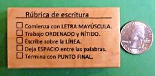 """Rubrica de escritura"" -- Spanish Teacher's Stamp for penmanship"