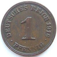 Top! 1 Pfennig 1916 F En Very fine / Extremely fine