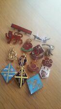 More details for 14 x girl guides county vintage enamel badges