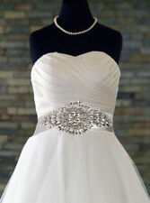 "Bridal ""Dazzle"" Diamante Rhinestone Crystal Applique Wedding Belt Costume"