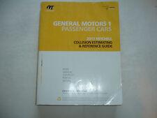 2013 Mitchell General Motors Collision Estimating Manual Guide Corvette Camaro