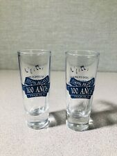 SAUZA 100 ANOS TEQUILA SHOT GLASSES - Pair Collectible.
