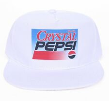 Vintage Crystal Pepsi Snapback Hat Cap 90 S Era Coca Cola NEUF