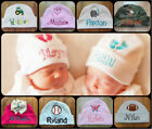 PERSONALIZED MONOGRAM CUSTOM Baby Boy Girl Beanie Hospital Hat Cap Keepsake Gift
