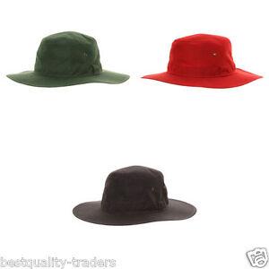 MENS LADIES WIDE BRIM SUMMER CRICKET HATS  WITH COTTON SUN HAT