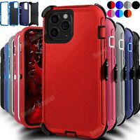For iPhone 12 Mini 12 Pro Max Shockproof Rugged Defender Case With Belt Clip